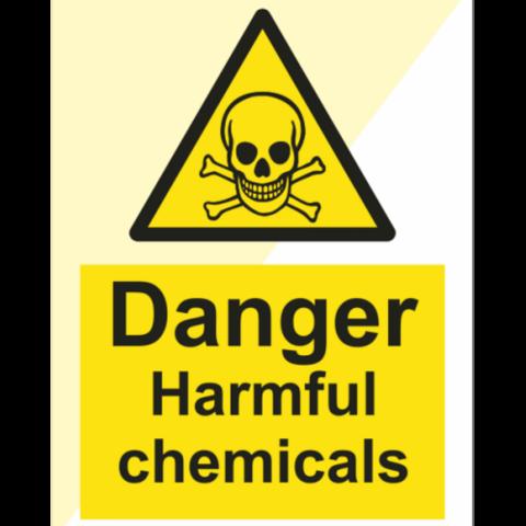 Danger Harmful chemicals