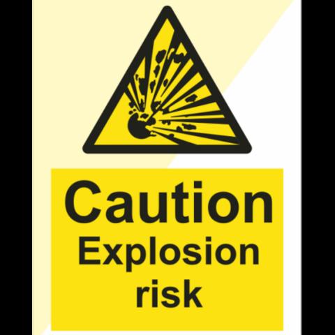 Caution Explosion risk