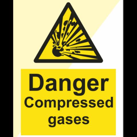 Danger Compressed gases