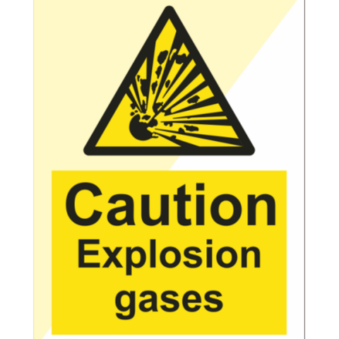 Caution Explosion gases