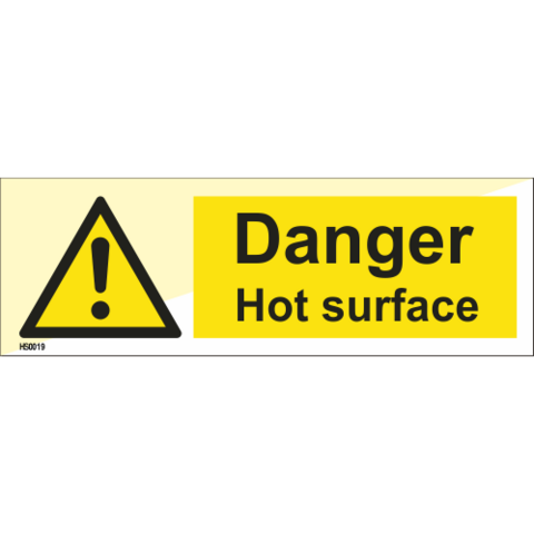 Danger Hot surface / Warning Hot surface