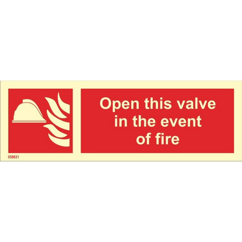 Open This Valve In The Event Of Fire