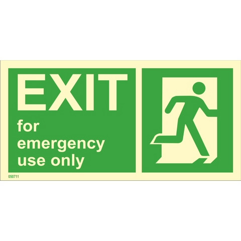 Exit For Emergency Use Only Right