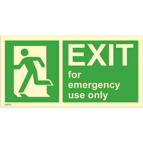 Exit For Emergency Use Only Left