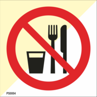 Do not eat or drink