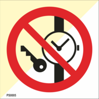 Do not wear any metal parts or clocks
