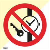 Älä pue päällesi metalliosia tai kelloja