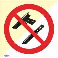 Aseet kielletty