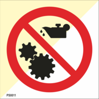 No maintenance on moving machinery
