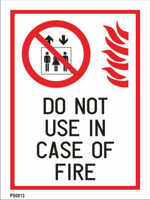 Do not use in case of fire