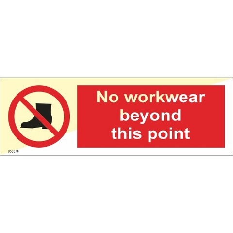 No workwear beyond this point
