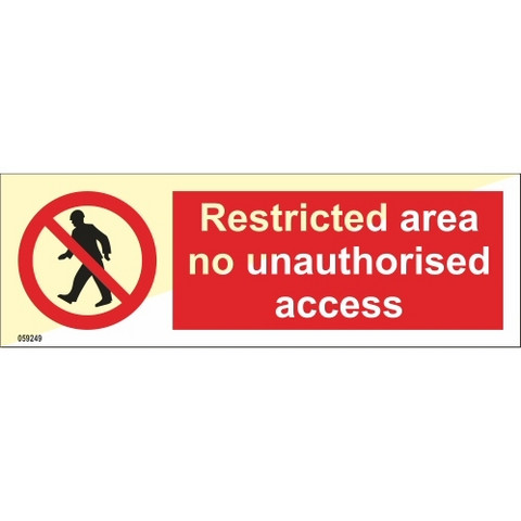Restricted area no unauthorised access