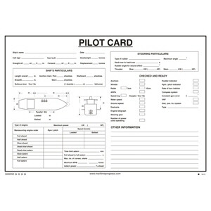 Wheel House - Pilot Card (including wet-wipe pen)