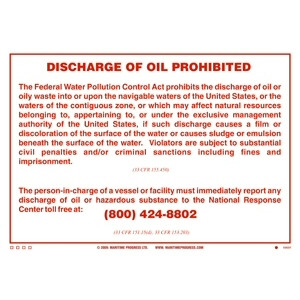 Discharge of Oil Prohibited