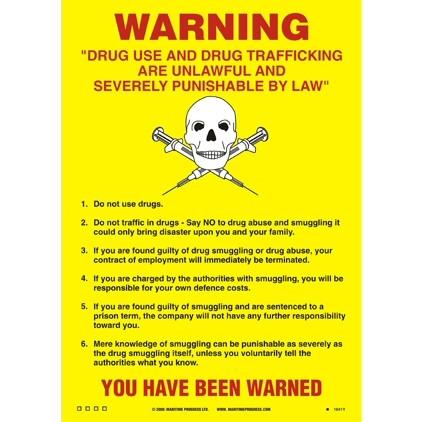 Drugs and Trafficking Warning Notice
