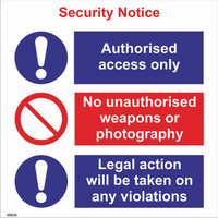 Security notice authorised access only