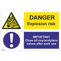Danger! Explosion risk; IMPORTANT