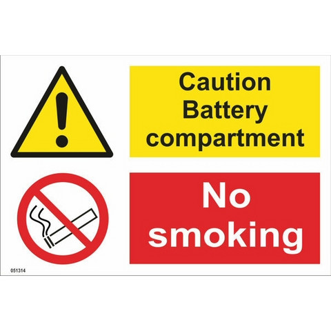 Caution! Battery compartment