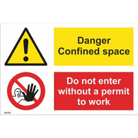 Danger! Confined space; Do not enter without a permit to work