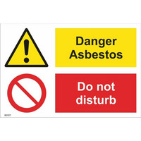 Danger Asbestos! Do not disturb
