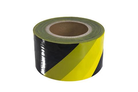 Keltainen / musta vinoraita kulunestonauha