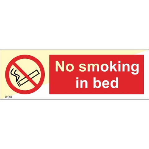 No smoking in bed