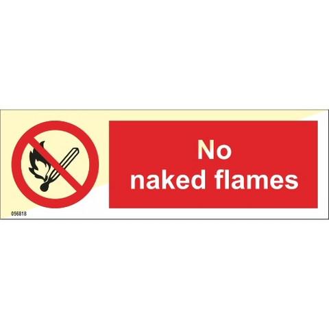 No naked flames
