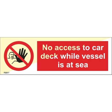 No access to car deck while vessel is at sea