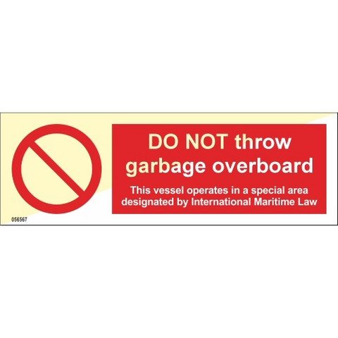 Do not throw garbage overboard