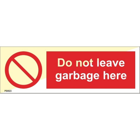 Do not leave garbage here