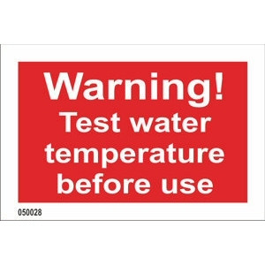 Warning! Test water temperature before use