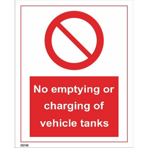 No emptying or charging of vehicle tanks