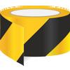 AS-20 Keltainen / musta vinoraita heijastinteippi