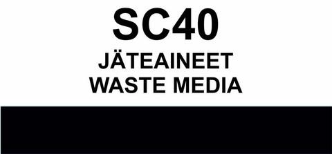 SC40 Jäteaineet  | Waste media