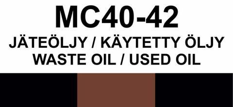 MC40-42 Jäteöljy/käytetty öljy   Waste oil/Used oil