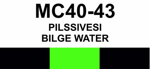 MC40-43 Pilssivesi | Bilge water