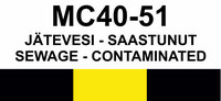 MC40-51 Jätevesi - saastunut | Sewage - contaminated