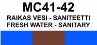 MC41-42 Raikas vesi - saniteetti | Fresh water - sanitary