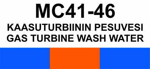 MC41-46 Kaasuturbiinin pesuvesi | Gas turbine wash water