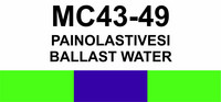 MC43-49 Painolastivesi | Ballast water