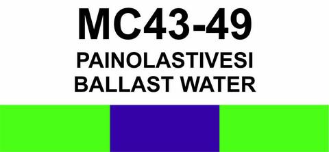 MC43-49 Painolastivesi | Ballast water