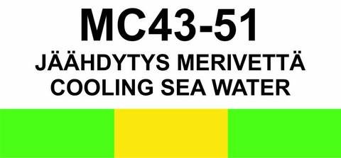 MC43‑51 Jäähdytys merivettä | Cooling sea water