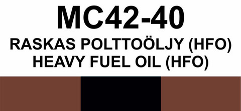 MC42-40 Raskas polttoöljy (HFO) | Heavy fuel oil (HFO)