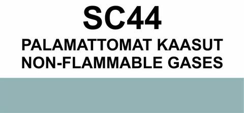 SC44 Palamattomat kaasut   Non-Flammable gases