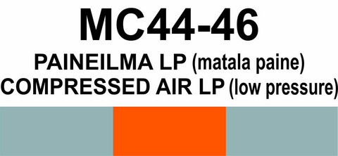 MC44-46 Paineilma LP (matala paine) | Compressed air LP (low pressure)