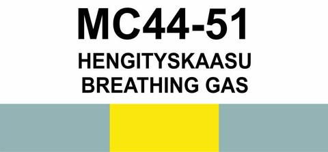 MC44-51 Hengityskaasu | Breathing gas