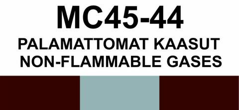 MC45-44 Palamattomat kaasut | Non-flammable gases