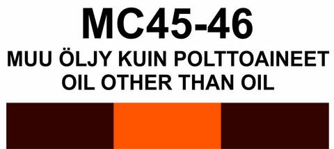MC45-46 Muu öljy kuin polttoaineet | Oil other than oil