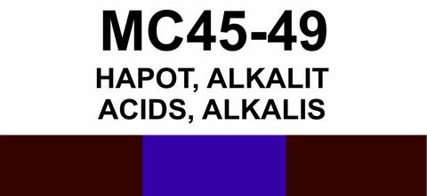 MC45‑49 Hapot, alkalit | Acids, alkalis
