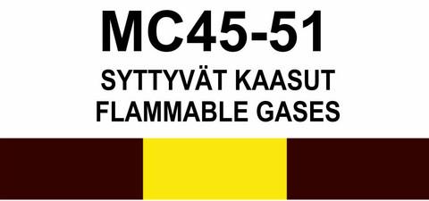 MC45‑51 Syttyvät kaasut | Flammable gases
